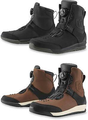 Icon Patrol 2 Boots - Motorcyle Street Bike Riding Leather Waterproof BOA Shoes