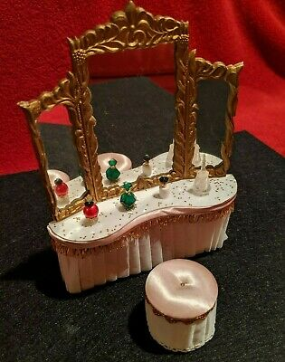Vintage Dollhouse Furniture - Ideal Petite Princess Dressing Table, Pink