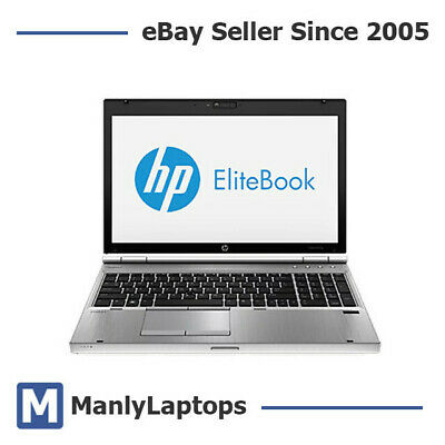 "HP EliteBook 8560p 15"" Laptop i5-2540M 2.6GHz, 8GB Ram, 128GB SSD 