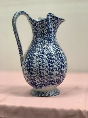 Very rare Antique Moore & Co BLUE AND WHITE JUG water PITCHER circa 1900