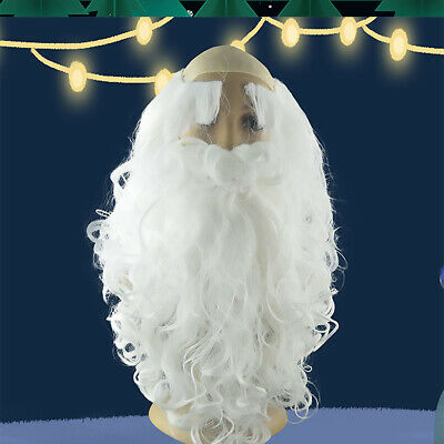 Father Christmas Santa Claus Wig and Beard Adult Fancy Dress Costume NRZ