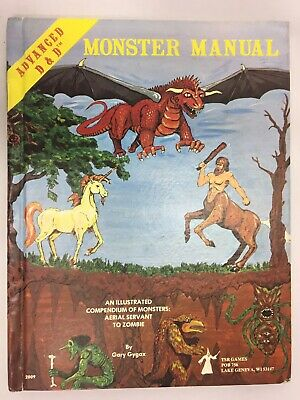 Vintage 1978 Advanced Dungeons & Dragons Monster Manual - TSR Good Used Cond