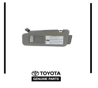 GENUINE OEM TOYOTA 2008-2013 Highlander Gray Drivers Sun Visor W/ Vanity Light