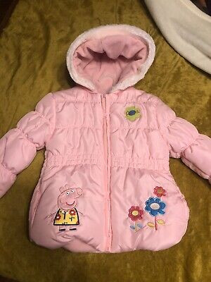 Toddler Girls Peppa Pig Winter Coat With Hood