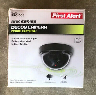 First Alert Decoy Dome Camera - Motion Activated LED