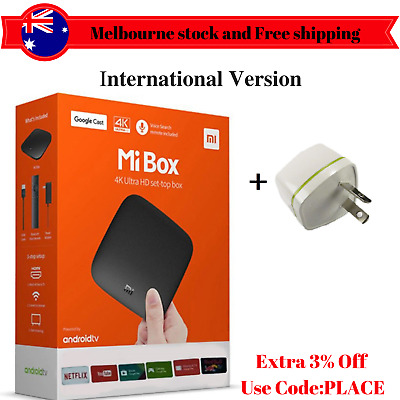 Used Xiaomi BOX Android 6.0 Smart 4K Mi TV Box HDR Google Cast Global Version