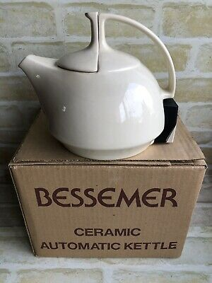 Rare & Collectable Vintage Bessemer Ceramic Electric Kettle ~ With Ceramic Lid