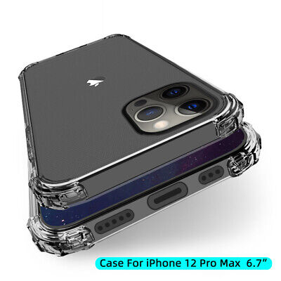 Shockproof Bumper Clear Case For iPhone 11 Pro Max XR XS 8 7 Plus Silicone Cover