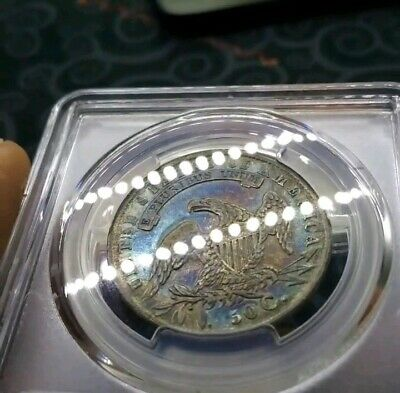 1834 Capped Bust Half Dollar PCGS VF35 TONED BEAUTY. PL Reverse