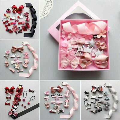 18Pc Cute Hairpin Baby Girl Hair Clip Bow Flower Mini Barrettes Star Kids Infant