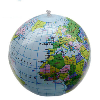 40cm Inflatable World Globe Earth Teaching Geography Map Beach Ball Kids Toy #HZ