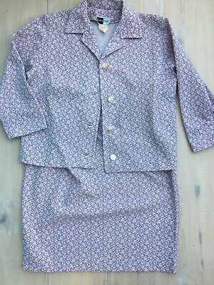 True Vintage Crimplene Suit - Never Worn - Vintage Size 38
