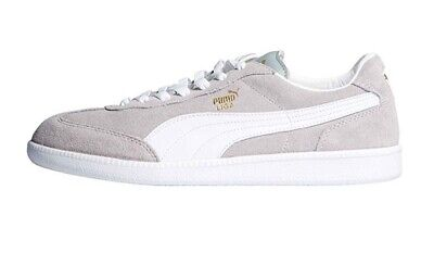 PUMA LIGA SUEDE 341466 77 Grey White Lace Up Casual Trainers
