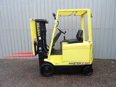 HYSTER E2.50xm 4350mm LIFT USED ELECTRIC FORKLIFT TRUCK. (#2704)