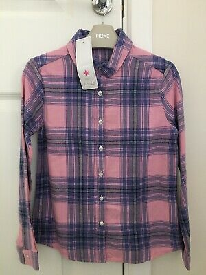 Girls Checked Shirt Brand New with Label Size 9-10 Yrs