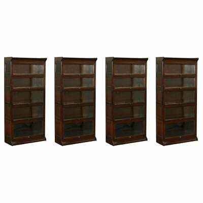 Four Circa 1880 Grand Rapids Bookcase & Chair Co Stamped Legal Library Bookcases