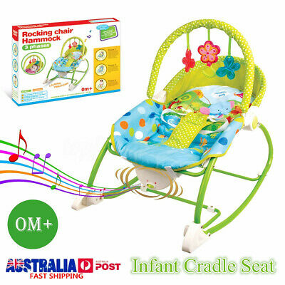 Baby Infant Rocker Bouncer Chair Music Vibration Toy Seeper Crade Seat AU