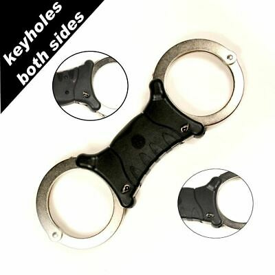 TCH Nickel Dual Key Rigid Handcuffs