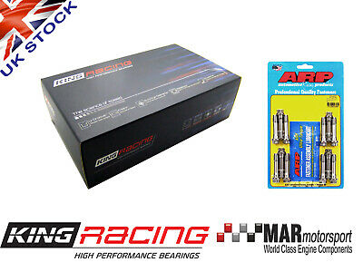 KING RACE Big End / Conrod COATED Bearings BMW E46 M3 S54B32 + M10 ARP Bolts