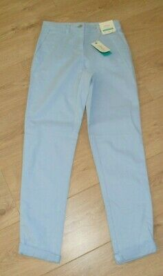 Joules Hesford Size 6 Pale Blue Cotton/Modal/Elastane Chino Trousers New Tag