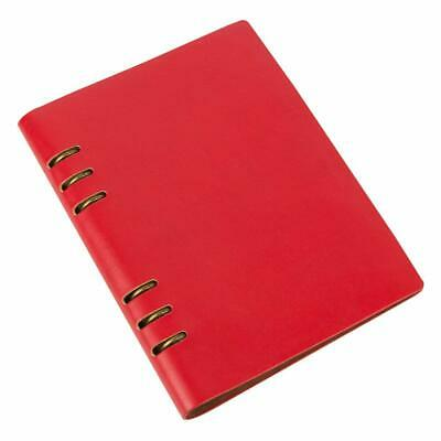 Leather Journal, Retro Cover Spiral College Notebook  for A5 Filler Paper: Red