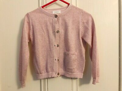 Next Girls Pale Pink Glitter Cardi 1.5yrs - 2yrs