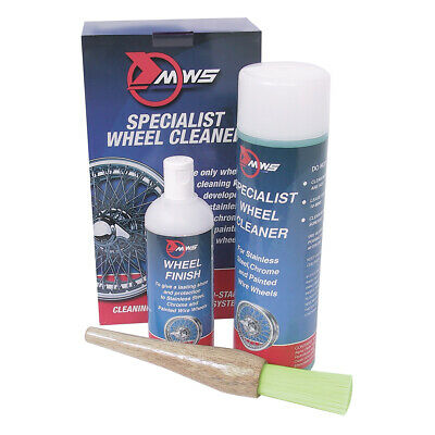 MWS Wire Wheel Cleaning kit Cleaner Finish protector Brush & pair latex Gloves