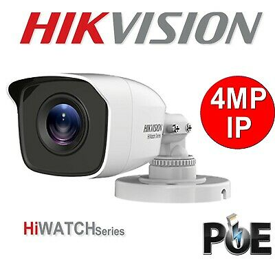 Hikvision Hiwatch IP Camera 4MP IPC-B140  4mm LENS POE OutDoor NightVision UK