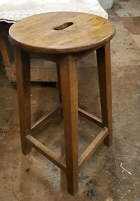 Victorian Beech And Elm Stool