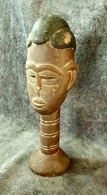 Vintage A special handmade  African Native Statue Wood Figure Hand Carved   1168
