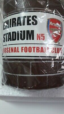 Arsenal F C Official Ceramic Money Box. Comes with protective packaging.