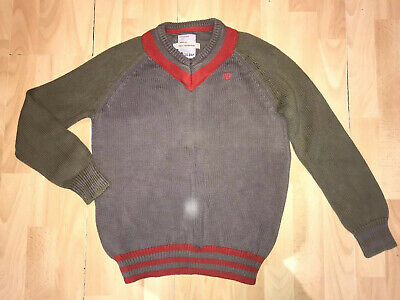 Fat Face boys Green Grey Cotton jumper 12/13 years