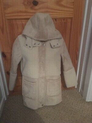 Next Girls Suede And Fur Coat Age 10 New Never Worn