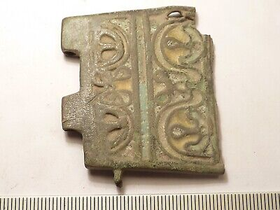 6586	Byzantine bronze buckle with an enamel