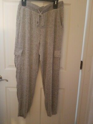 SO Soft Solid Joggers XL Mid Rise Gray Relaxed through Hip & Thigh FREE SHIPPING