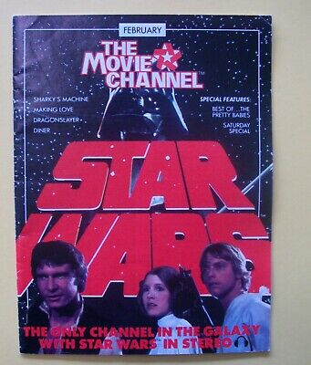 Star Wars Movie Premier / The Movie Channel Guide / February 1983