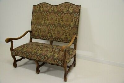 Bank - Couch - Sofa - Brutalismus - Vintage - Jahre 50 - Design Louis XIII
