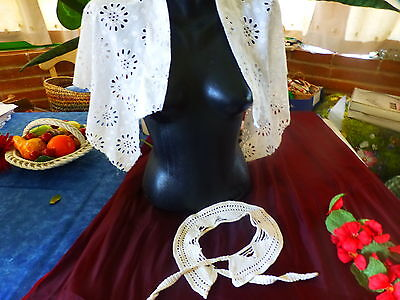 Lot Cols Handmade + English Embroidery a Finish = Pretty Cape for Dressing