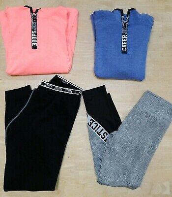 Justice Girl's Pullovers (Hoops & Cheer) NEW and Joggers and Leggings - Size 14