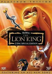 The Lion King Two-Disc Platinum Edition Dvd
