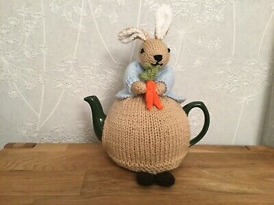 Peter Rabbit Hand Knitted Tea Cosy / cosie  Great Gift.