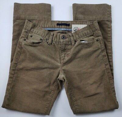 Gap 1969 Womens Corduroy Pants Juniors Sz 1 Brown Tan Boot Cut Jeans Career **