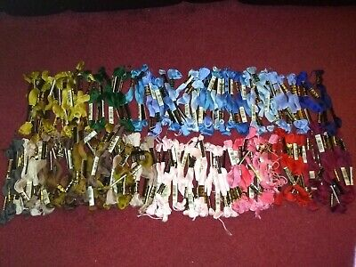 Approx 150 DMC Embroidery Cross Stitch Threads Skeins Assorted Colours