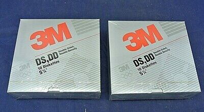 """3M, Ds,Dd 5-1/4"""" Diskettes, Two Boxes Of 10 Each"""