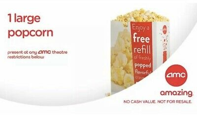 AMC Large Popcorn and Large Coke at the Movies exp. 6/30/2020-Email Delivery