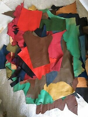 Leather hides large Bundle Crafts Bags Book Binding Multi Leather Colours