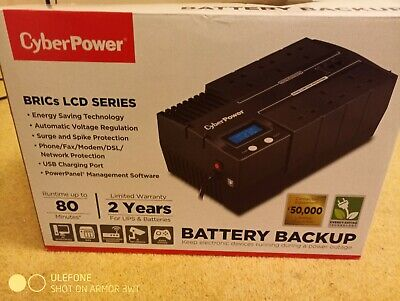 CyberPower BRICs BR700ELCD UK-3 Pin Power Socket UPS with LCD Display