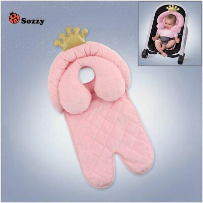 Sozzy Baby Stroller Mat with Anti Roll Pillow Cotton Child Infant Cushion for