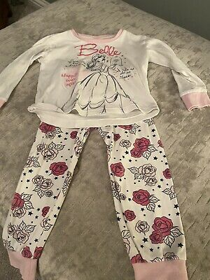 Girls Disney Belle Pjamas. Aged 4. Good Condition