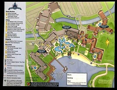 NEW 2020 Walt Disney World Yacht and Beach Club Resort + 7 Theme Park Guide Maps